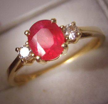 Vintage Ruby and Diamond Ring  A gift from a bf or husband to let me know I am worth more that rubies Proverbs 31:10
