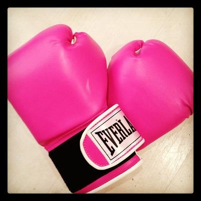 Her boxing gloves