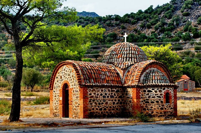 Chapel - Dafia, Lesvos. Why not join us to see all the sites. See our website for all the details.