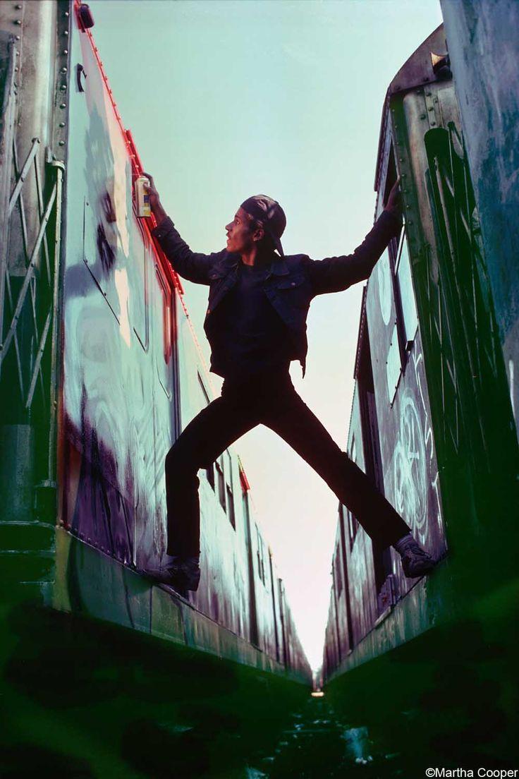 from Martha Cooper's 1980 photo series of a graffiti crew