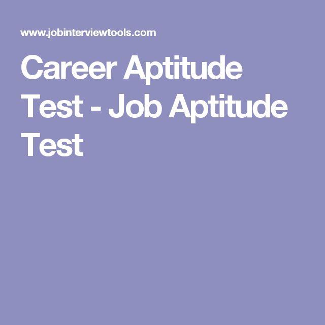 Career Aptitude Test - Job Aptitude Test