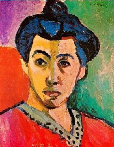 #fauves esta es una obra de Henri Matisse llamada mujer con raya verde y fue realizada en 1905.la elección de esta obra a sido porque en ella refleja cierta potenciación del color característica de este estilo.