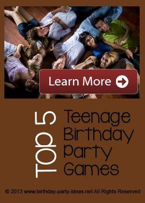 Teenage Birthday Party Games