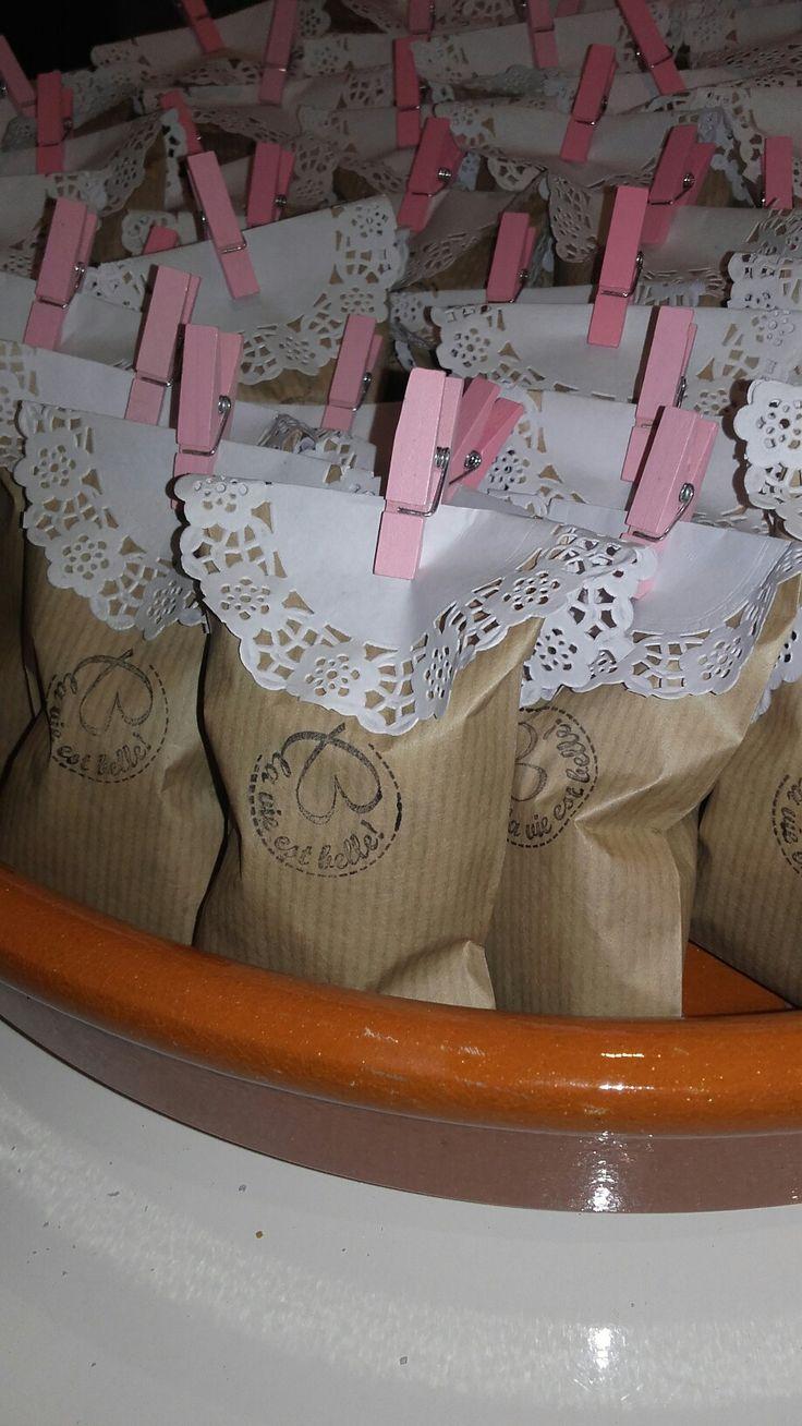 Des petits sacs de chouchous fait maison pour mon anniv!