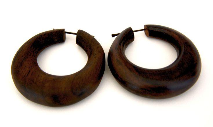 Yamdena Wooden Stick Earrings from www.kurakura.co.za