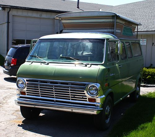 Custom Van With Truck Bed 1970 Ford Econoline E 300