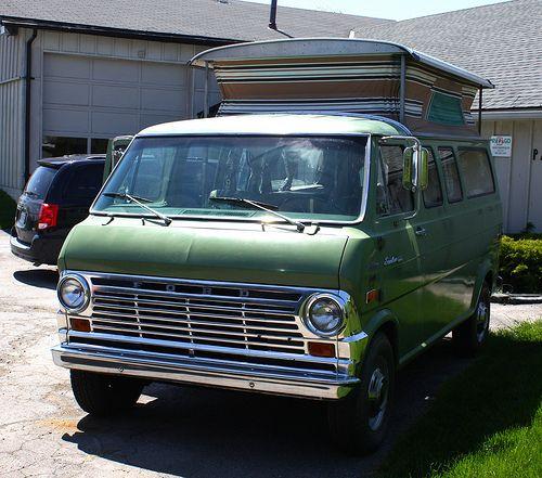 custom van with truck bed 1970 ford econoline e 300. Black Bedroom Furniture Sets. Home Design Ideas