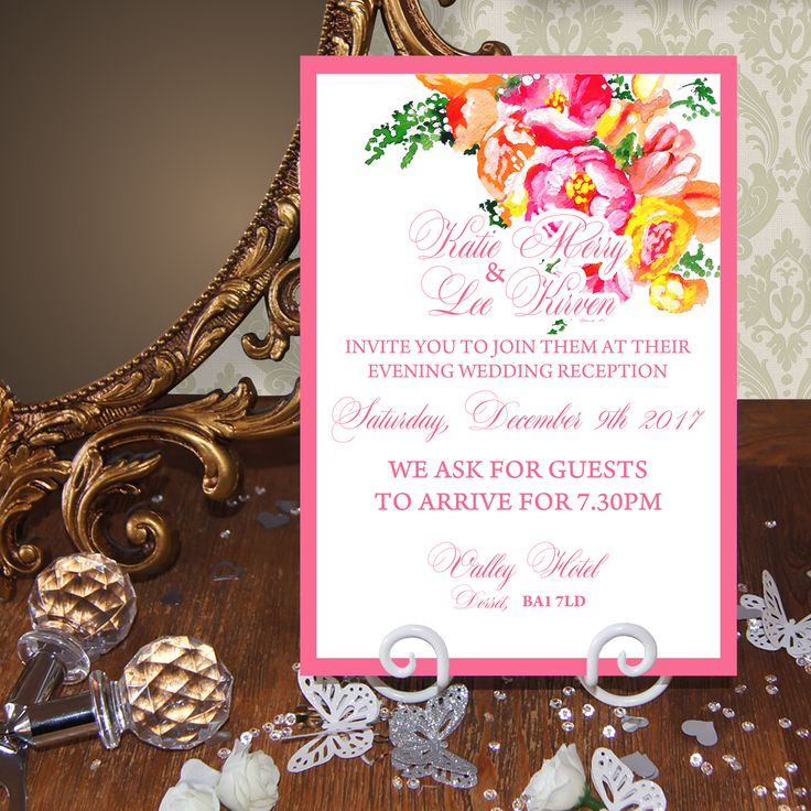 The 19 best Wedding Evening Invitations images on Pinterest