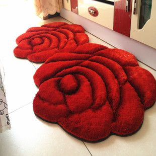 3d three-dimensional rose carpet bed rug disposable summer slip-resistant mats $167.57