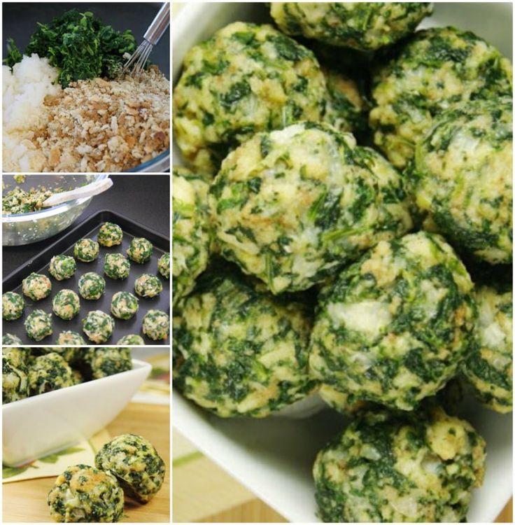 Cheesy Spinach Balls