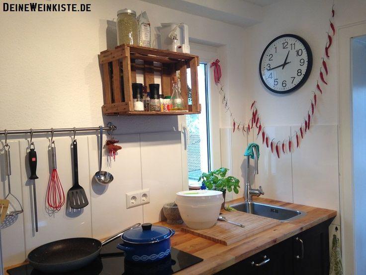 24 best #10 Weinkisten-Küchenregale images on Pinterest - küchenregal mit beleuchtung