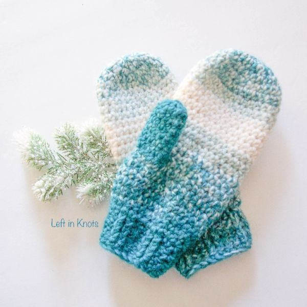 Warm Wool-ish Mittens — Left in Knots