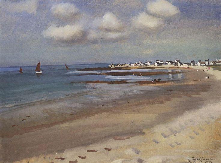 Zinaida Serebriakova - Lesconil, Brittany (1934)