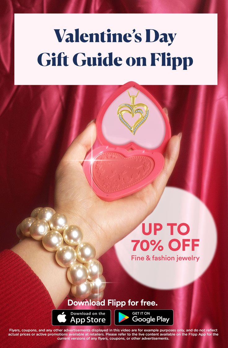 All of your favorite Valentine's Day ads in one place: the Flipp app. Browsing has never been easier. Clip coupons, create a shopping list and more. Download for free.