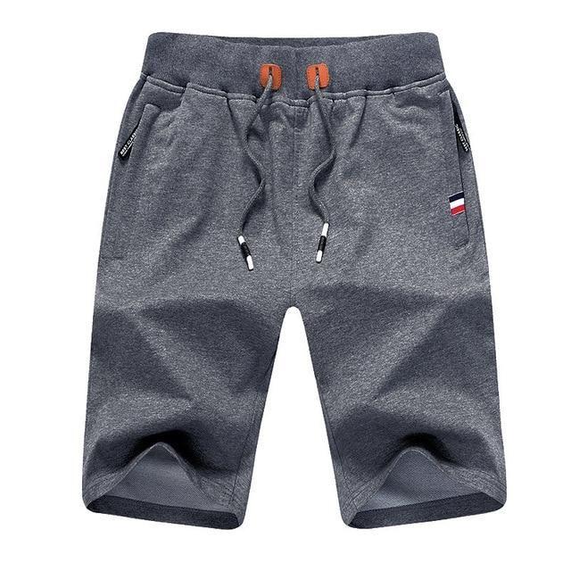 2018 New Summer Mens Jogger Shorts Sporting Thin Shorts Men Elastic Comfortable Short Pants Male Solid Zipper Pocket Sweatpants
