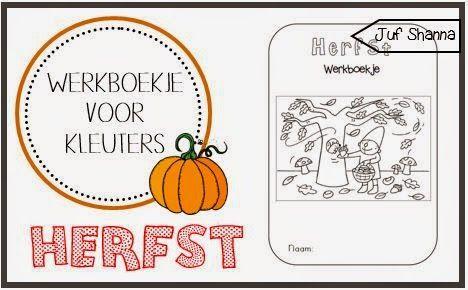 Juf Shanna: Herfst! - Werkbladen voor kleuters