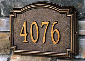 Beautiful house number plaques at: http://www.lockingmailboxes.us