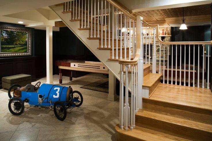 staircase landing basement staircase pinterest