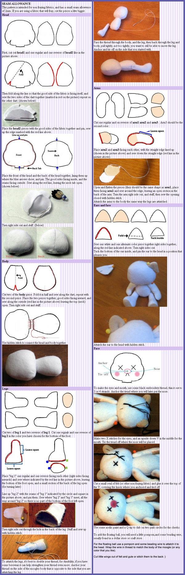 Moogle plush pattern.  I love BabyLondonStar's plushes