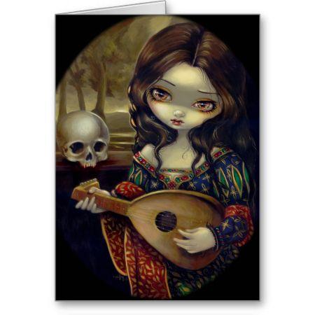 """I Vampiri:  Il Liuto"" Greeting Card"