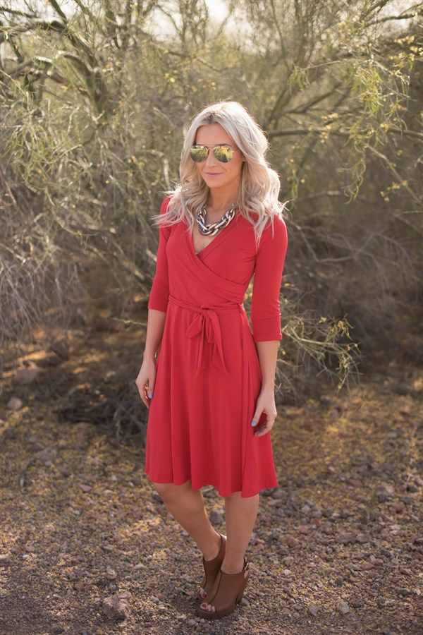 Our popular maxi wrap dress is now available in a knee length version for the…