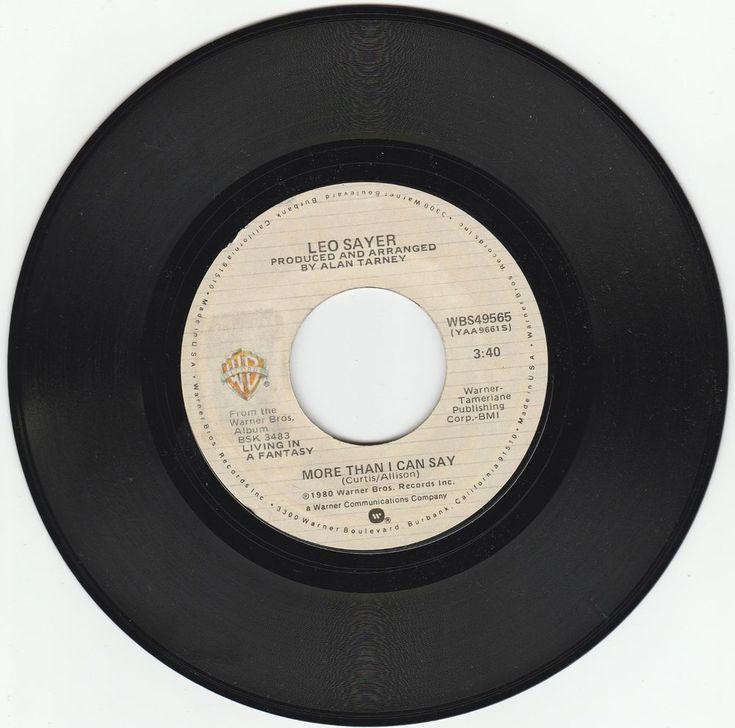 1980     MORE  THAN  I  CAN  SAY   -   LEO  SAYER #RocknRoll
