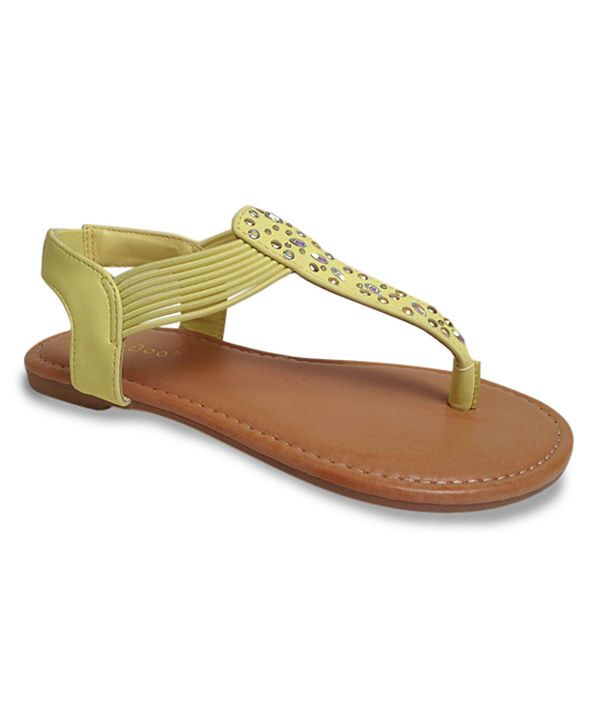 Look at this Bamboo Lemon & Silver Strappy Sandal on #zulily today!