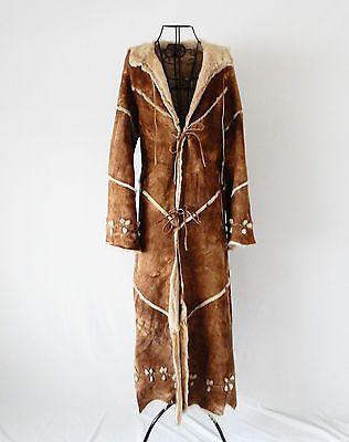 Shearling Vintage Pelliccia  Cappotto Coat Jacket Pelle Leather