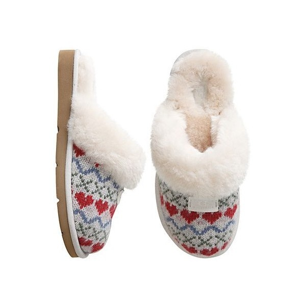 641a10c0f8d Ugg Cozy Knit Hearts Slipper ($50) ❤ liked on Polyvore | My Style ...