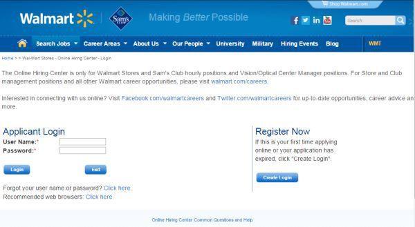 Walmart Careers Login Walmart Job Application Online