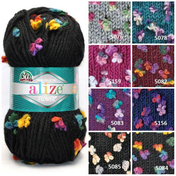 alize FLOWER yarn butterfly yarn winter yarn от KnittingAndYarns