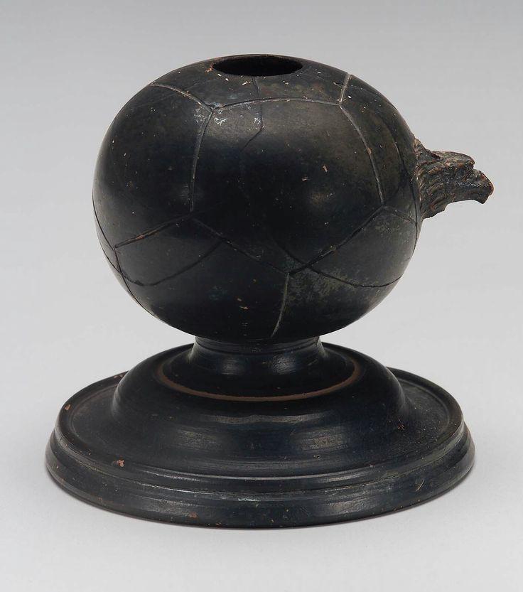 Ceramic black-glaze Inkstand. Greek (n.d.) | The Museum of Fine Arts, Boston