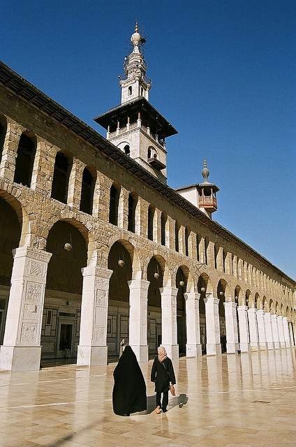The Minaret of the Bride, Umayyad Mosque in old Damascus, Syria by iancowe, via Flickr