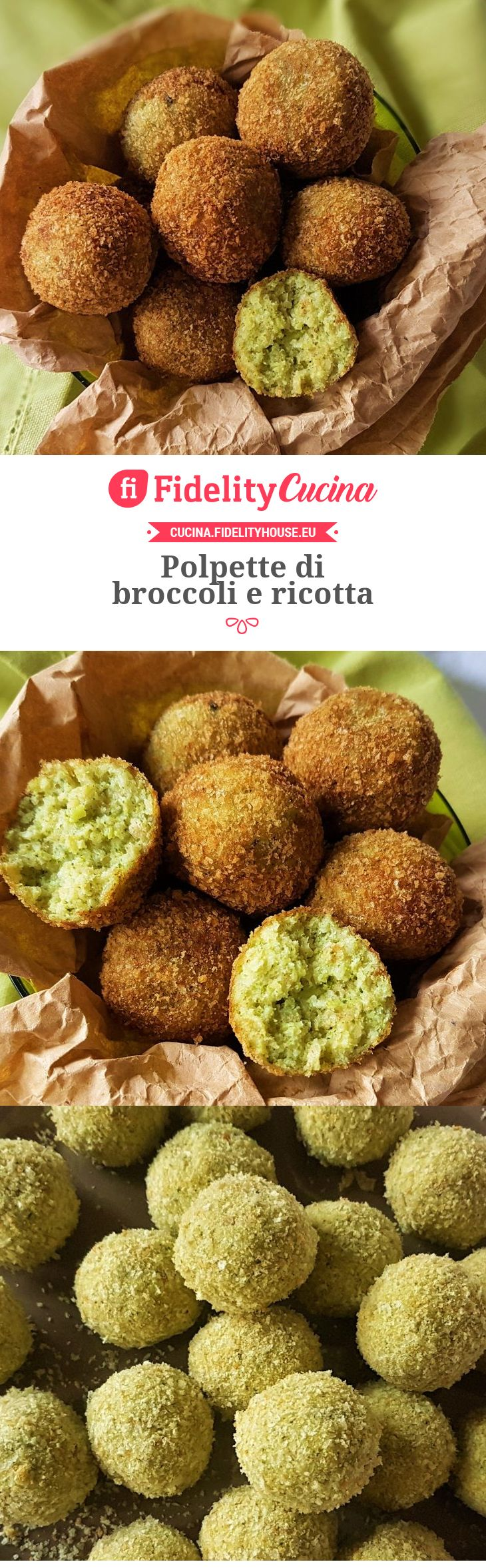 Polpette di broccoli e ricotta