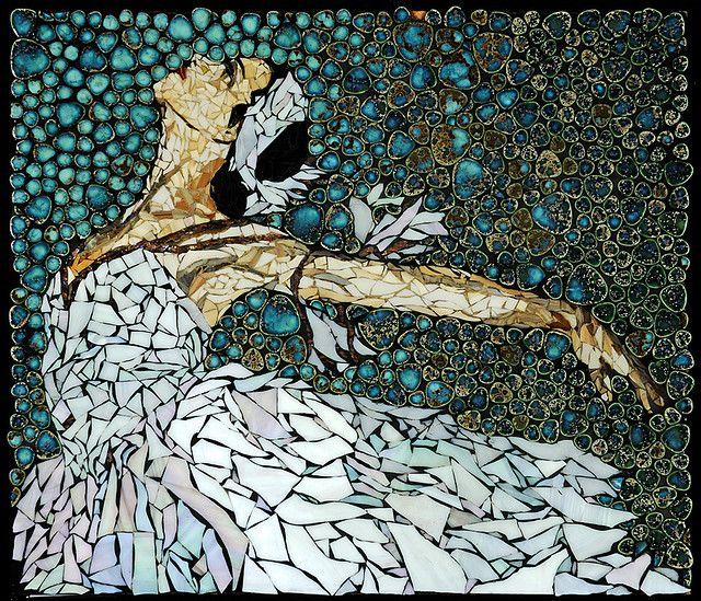 Ballerina Swan Lake By Laura Harris Melonhead Gallery Mosaic Artworkmosaic Tile Artpaper