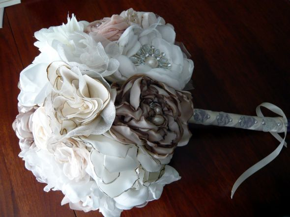 Fabric Flower Bouquet Wedding Bouquet Diy Flowers Bouquet 1