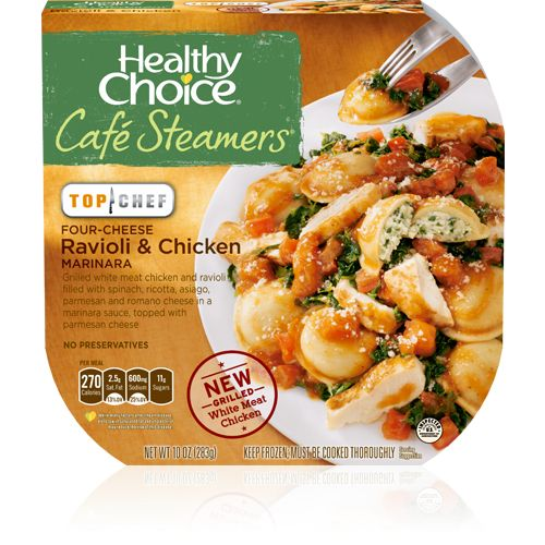 Café Steamers by Healthy Choice - Low calories, reasonable sodium with sacrificing taste. Decent portion size too.