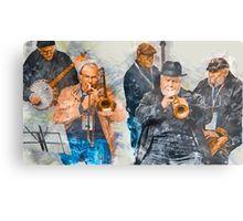 Musical Mates in Flinders Lane Metal Print