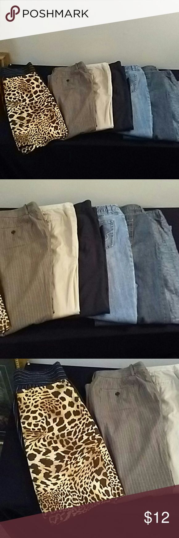 Women's 8pc Brand Name Clothing Lot All Size 8 Women's 8pc Brand Name Clothing Lot All Size 8 This Lot Includes Jeans Skirts Slacks Pants etc  Brands Include Ann Taylor Chicos Talbots Jones Newyork Eddie Bauer + A Few others Pants