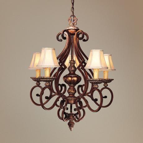 "Belcaro Collection Ornate 27"" Wide Five Light Chandelier - #07995 | LampsPlus.com"
