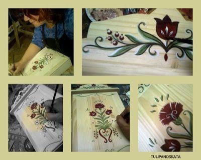 Bútorfestés, festett bútorok: április 2012