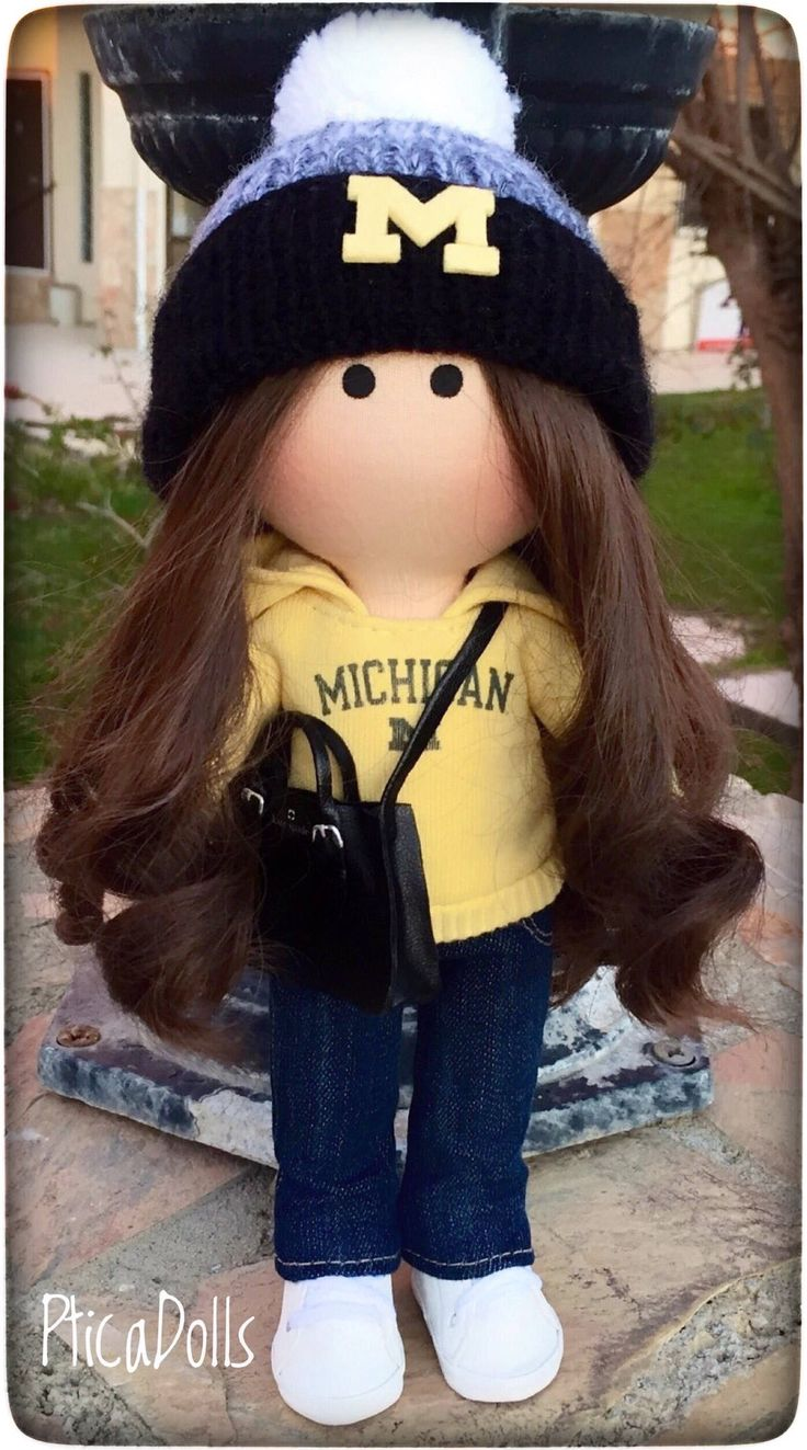 UMICH student by PticaDolls ❤️ https://www.etsy.com/listing/502909860/university-of-michigan-student-handmade