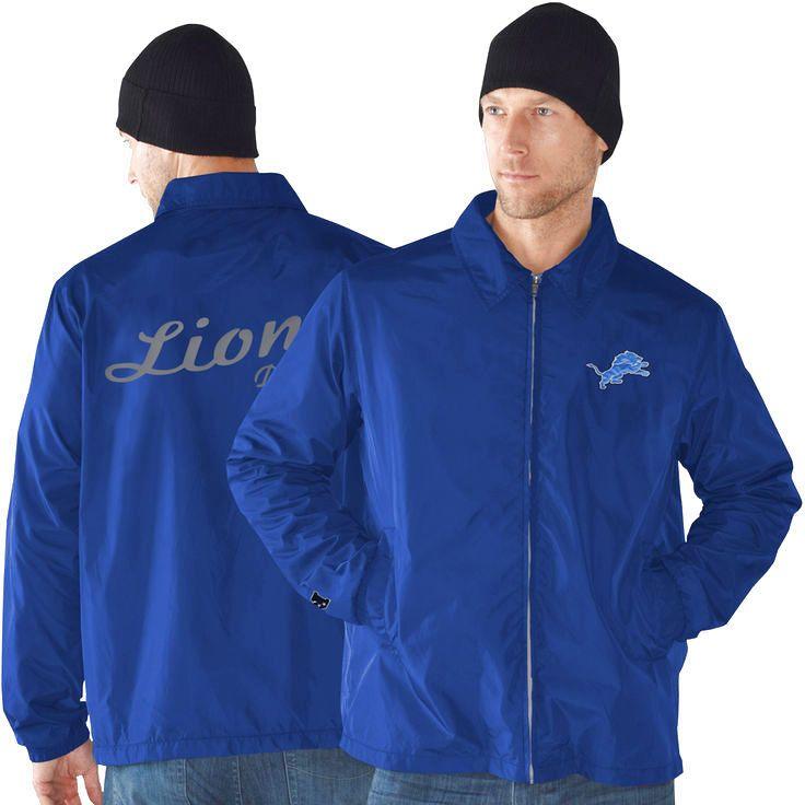 Detroit Lions Head Coach Full Zip Jacket - Light Blue - $50.34