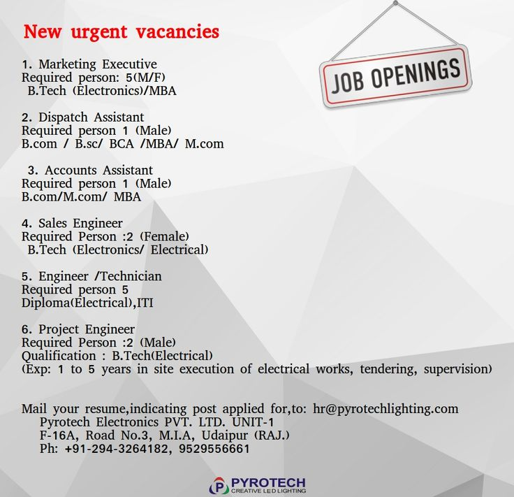New vacancies #PYROTECH Please post your resume on hr - post your resume