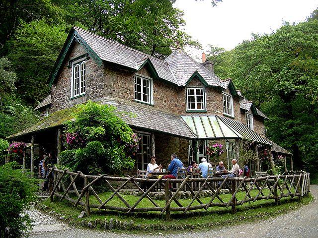 Watersmeet Tea House in Exmoor, North Devon, England, U.K. (by pudontour).