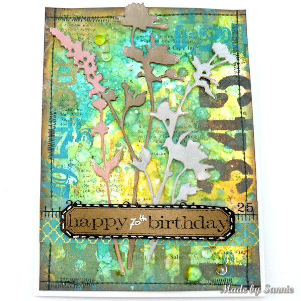 Made by Sannie: Number 70 card with video tutorial