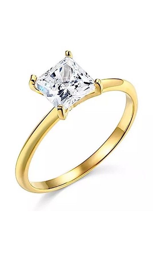 Real Cheap Wedding Rings | 1 Ct Princess Solitaire Engagement Wedding Promise Ring Real 14k