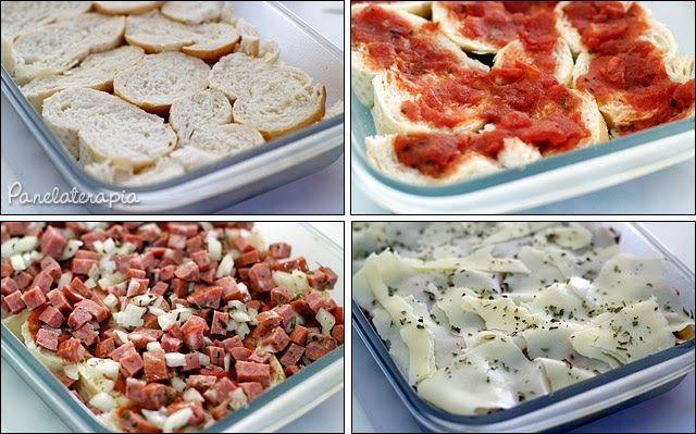 PANELATERAPIA - Blog de Culinária, Gastronomia e Receitas: Torta Bruschetta