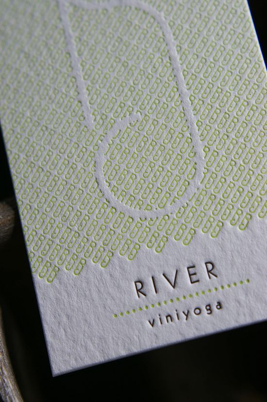 28 best letterpress images on pinterest graphics paper mill and supercool letterpress business card for viniyoga design by ivan trushin reheart Gallery