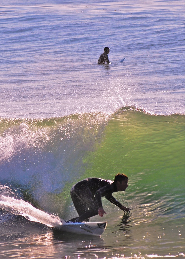 Pleasure Point, Santa Cruz CA - The first place I got on a surf board! I certainly was not this good!